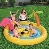 """Детский надувной игровой центр-бассейн с горкой Bestway 53071 """"Солнышко"""" (237х201х104 см.), фото 2"""