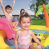 """Детский надувной игровой центр-бассейн с горкой Bestway 53071 """"Солнышко"""" (237х201х104 см.), фото 8"""