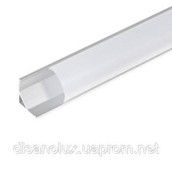 BY-037 Профиль алюминиевый для светодиодной ленты, 1м
