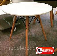 Столик детский Тауэр Вуд белый, дизайн Сharles Eames DSW Kids table  диаметр 60 см высота 55 см