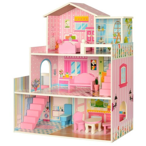 Деревянный домик для кукол MD 2251