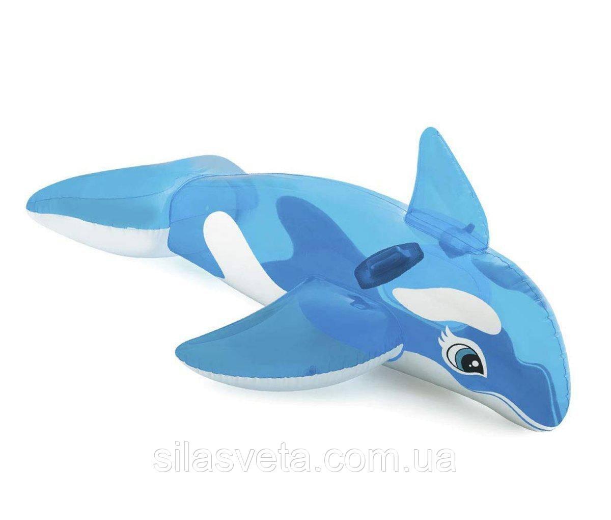 """Детский надувной плотик Intex 58523 """"Дельфин"""" (152х114 см.)"""
