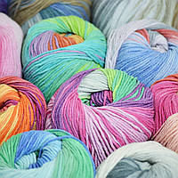 Новые яркие цвета Alize Cotton Gold Batik