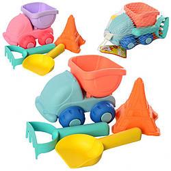 Детский игровой набор для песочницы Toys-Toys машинка, лопатка, грабли, формочка