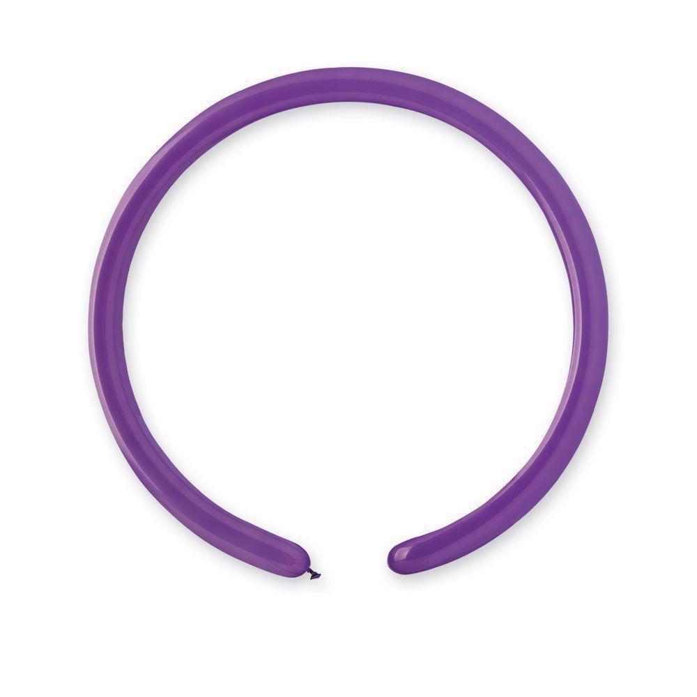 Воздушные шары Поштучно GEMAR ШДМ 260-2/08 Пастель Фиолетовый (Purple) от 1 шт