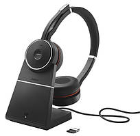 Беспроводная Bluetooth гарнитура Jabra EVOLVE 75 MS Stereo + База