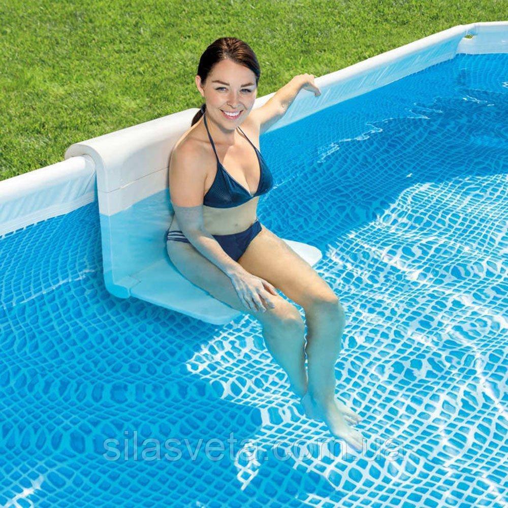 Складывающаяся скамейка для бассейна (пластик), Intex 28053