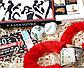"""Подарочный набор """"Красное и черное"""": камасутра шоколадная, чековая книжка желаний, кубики с позами и наручники, фото 9"""