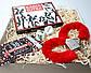 """Подарочный набор """"Красное и черное"""": камасутра шоколадная, чековая книжка желаний, кубики с позами и наручники, фото 10"""