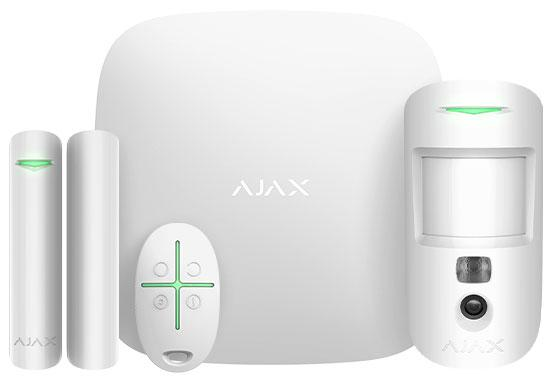 Стартовый комплект охранной сигнализации Ajax StarterKit Cam, White