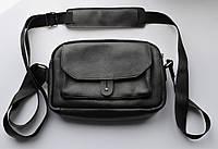 """Мужская сумка через плечо """"Comodo"""" черная"""