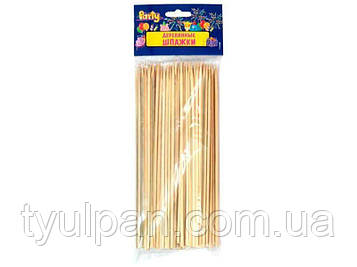 Шпажки палочки бамбук 30 см 100шт