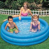 Детский надувной бассейн Intex 58426 «Синий кристалл», 147 х 33 см