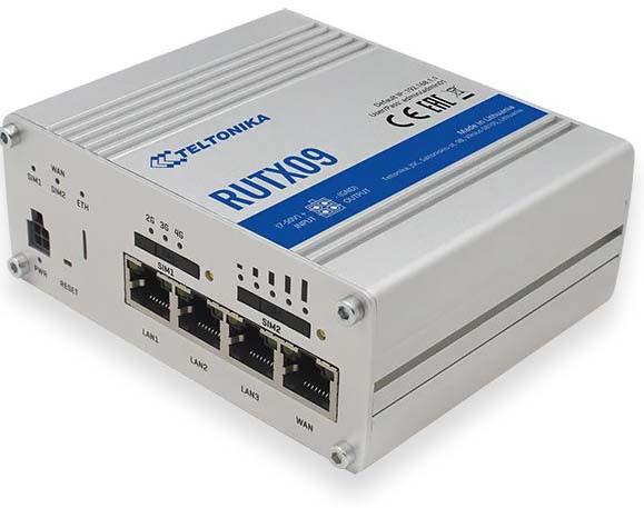 Промышленный 4G маршрутизатор (Dual Sim) Wi-Fi/Ethernet Teltonika RUTX09