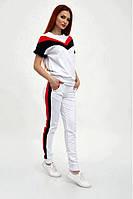 Прогулочный костюм женский летний с коротким рукавом (6 цветов, р.XS-L)