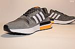 Чоловічі кросівки Adidas Zx 500 Rm (сіро-білі з помаранчевим) D10, фото 2