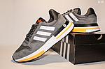 Чоловічі кросівки Adidas Zx 500 Rm (сіро-білі з помаранчевим) D10, фото 7