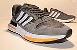 Чоловічі кросівки Adidas Zx 500 Rm (сіро-білі з помаранчевим) D10, фото 6