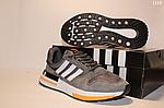 Чоловічі кросівки Adidas Zx 500 Rm (сіро-білі з помаранчевим) D10, фото 5