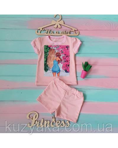 Детский летний  костюм для девочки на рост 86-116 см