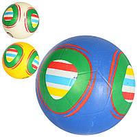 Мяч футбольный VA 0060  размер 5, резина, гладкий, 380-400г, 3цвета, в кульке