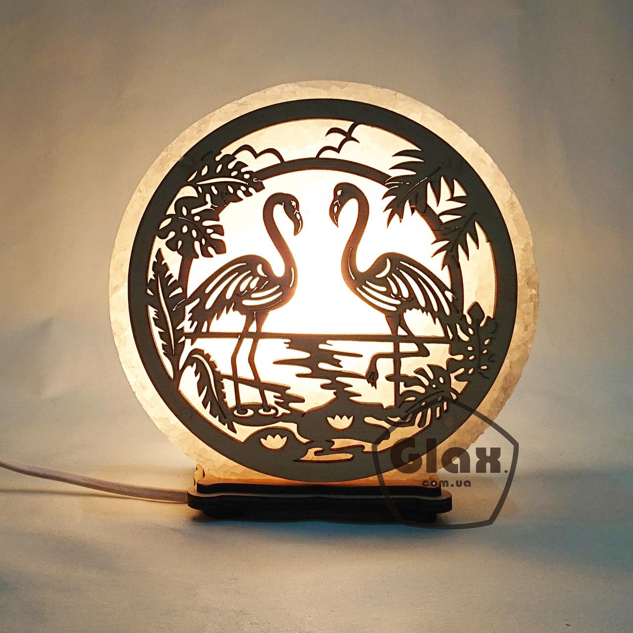 "Соляна лампа світильник ""Фламінго"""