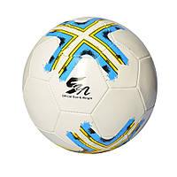 Мяч футбольный EV 3280  размер 5, ПВХ 1,8мм, 2слоя, 32панели, 300-320г, 3цвета,в кульке