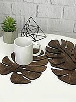 Комплект деревянных подставок под горячее «Лист», фото 1