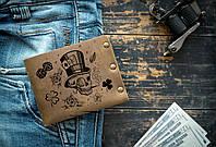 Мужской кожаный кошелек ТатуНаКоже, Удачливый кошелек Lucky wallet, фото 1