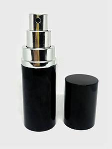 Флакон металевий чорний 20 мл комплект (флакон+розпилювач+кришка)