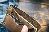 Чоловічий шкіряний гаманець ТатуНаКоже, Левине серце, фото 2