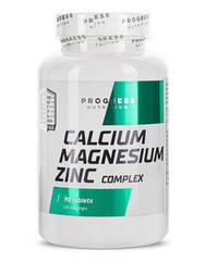 Витамины и минералы Progress Nutrition Calcium Magnesium Zinc (90 таблеток.)