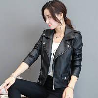 Жіноча шкіряна куртка. Модель 2033, фото 3