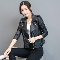 Жіноча шкіряна куртка. Модель 2033, фото 4