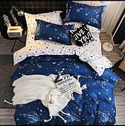 """Комплект постельного белья из Бязи """"Галактика на синем"""""""