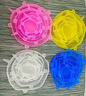 Силикнововые крышки | Крышки для лотков | Крышки для банок | Крышки для тарелок | Набор силиконвый крышек