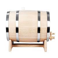 Дубовая бочка на 10 литров для вина, самогона, виски, коньяка