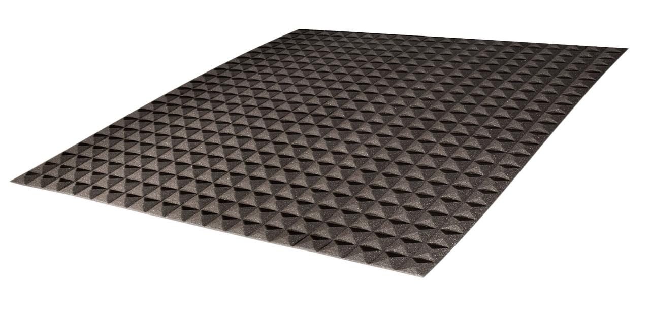 Акустический поролон Ecosound пирамида 10мм 1м х 1м черный графит