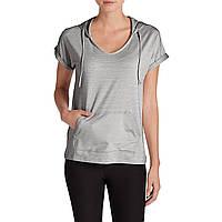 Худи Eddie Bauer Womens Infinity Short Sleeve Hoodie LT GRAY S Светло-серый 31-0276LGY, КОД: 1164751
