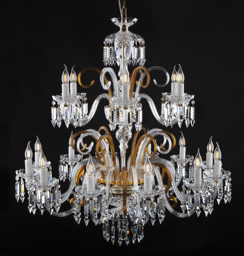 Большой хрустальный светильник Elite Bohemia