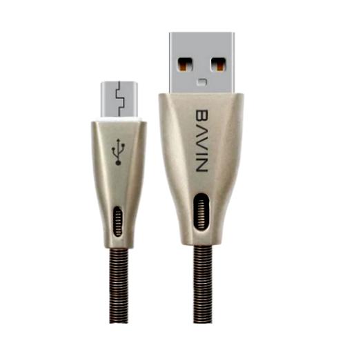 Шнур (кабель) Bavin CB070  USB - microUSB серебряный 1,2м