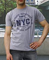 Мужская футболка спортивная, хлопковая   с принтом  «NYC-ATLETIC»