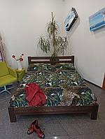 Кровать массив бука. Модель Рената Люкс 160*200. Цвет 101 темный орех.магазин МК