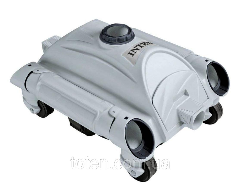 Автоматический вакуумный пылесос для бассейнов. Автоматически меняет направление движения intex 28001