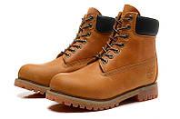Ботинки мужские Timberland 6-inch Waterproof Boots Light Brown/Black, фото 1