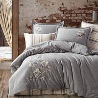 Комплект белья сатин с вышивкой Dantela Vita Melina lacivert, фото 1