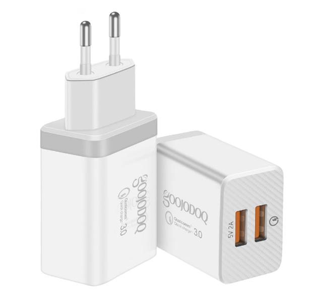 QC Быстрая зарядка 3,0 USB зарядное устройство двойной USB адаптер питания для мобильного телефона, планшета