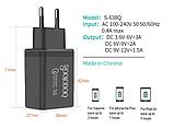 QC Быстрая зарядка 3,0 USB зарядное устройство двойной USB адаптер питания для мобильного телефона, планшета, фото 2
