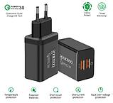 QC Быстрая зарядка 3,0 USB зарядное устройство двойной USB адаптер питания для мобильного телефона, планшета, фото 3