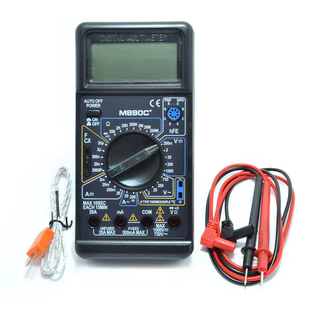 Мультиметр M890C+ з термопарою, 20 ампер
